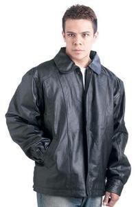Giovanni Navarre Solid Genuine Cowhide Leather Jacket