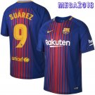Suarez #9 FC Barcelona Home Soccer Jersey 2017/18