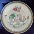 Mystery Early 19th Century English Chinoiserie Plate Clobbered Transferware.