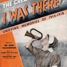 The Great War..I Was There!...Undying Memories of 1914-1918..Part 24, March 1939