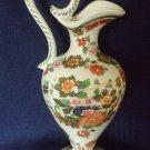 Vintage Hubert Bequet Belgium Hand Decorated Jug Ewer Pitcher Vase Before 1985