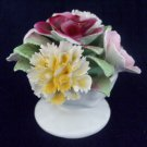 ROYAL STRATFORD Bone China Flowers Posy Bowl Five Blooms Hand Modeled & Painted