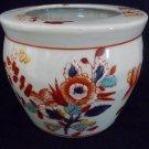 "Vintage Chinese Hand Enameled Jardiniere, Planter ,Jar,  Vase or Bowl  6"" Dia"