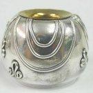 Caspi Silver Israel Sterling Silver 925 and Gilded Shabbat Candlesticks Set
