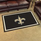 NFL New Orleans Saints Nylon Face 4'X6' Plush Rug