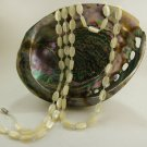 Genuine MOP Oval Beaded Necklace 43""