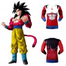 Dragon Ball GT Son Goku Super Saiyan SSJ4 Men's Fitted Long Sleeve T-Shirt