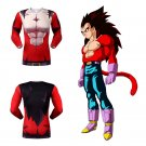 Dragon Ball GT Vegeta Super Saiyan SSJ4 Men's Fitted Long Sleeve T-Shirt