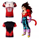 Dragon Ball GT Vegeta Super Saiyan SSJ4 Men's Fitted Short Sleeve T-Shirt