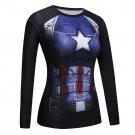 Captain America Civil War Women's Fitted Long Sleeve T-Shirt