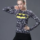 Batman Camouflage Women's Fitted Long Sleeve T-Shirt