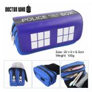 Tardis Doctor Who Large Capacity School Pencil Stationery Case