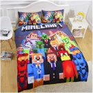 Minecraft Creeper Party Queen Size 4 Pcs Duvet Cover Bed Bedding Set