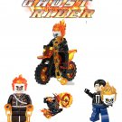 Ghost rider original on motorbike and agents of shield lego compatible