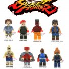 street Fighter minifigures 8 pc set from game version Lego compatible