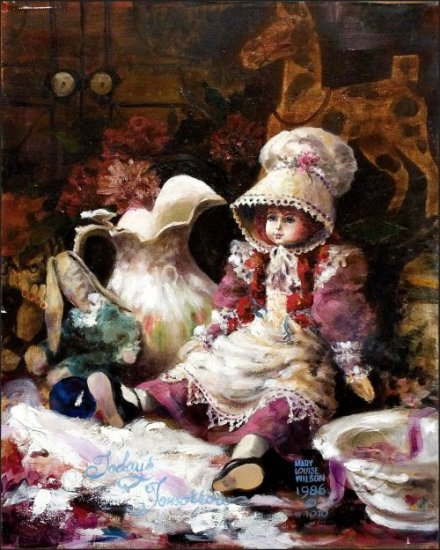 Lithograph Today's Tomorrows Doll Art Prints Wall Hanging Home Decorating