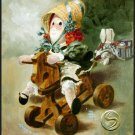 A Riding We Will Go Doll Art Print Wall Hanging Home Decorating