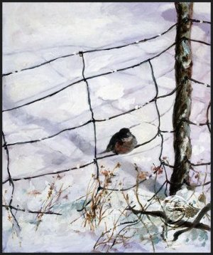 "Solitude Landscape Seasonal Winter Art Print Decorating 16""x20"" Poster"