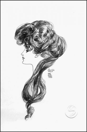 "Gibson Girl Contemporary Woman Art Print Wall Decor 12""x16"" Posters"