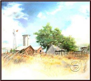 "Somewhere Near Smithville MO Gallery Art Pastel Landscape 16""x20"" Poster"