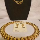 vintage Napier signed gold tone lot necklaces and earrings