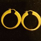 Milor Italy bronze earrings signed rose gold color hoops