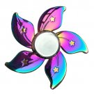 Relieves Stress Rainbow Floral Star EDC Spinners Finger Gyro Hand Adult Children