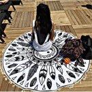 Beach Towel Round Printed Tai Ji Large Tassel Bath Towel Sun Block Shawl Yoga Mat