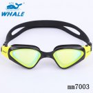Whale Band Unisex Soft durable double Silicone headstrap Swimming Goggles