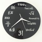 Wall Clock Math Formulas Creative Acrylic Home Decoration Coated Metal