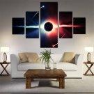 5pcs Modern Huge Wall Art Oil Painting On Canvas Sun Unframed Room Decor --L