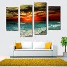 Unframed Modern Oil Painting Sunset Sea Waves Huge Wall Decor Art On Canvas