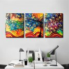 Modern Huge Wall Art Oil Painting On Canvas Money Tree Unframed Room Decor 3pcs