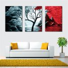 Frameless Huge Wall Art Oil Painting On Canvas Single Tree Home Decor