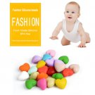 Heart Shape Loose Food Silicone Beads Necklace For Baby Teether DIY 20pcs/lot  Multicolor