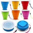6Pcs Portable Silicone Telescopic Drinking Collapsible Folding Cup Travel Camping