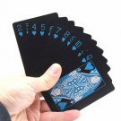 Waterproof Black PVC Poker 54 Playing Cards Table Game