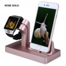 Charging Dock Stand Bracket Accessories Holder For iPhone Apple Watch iwatch  Rose Gold
