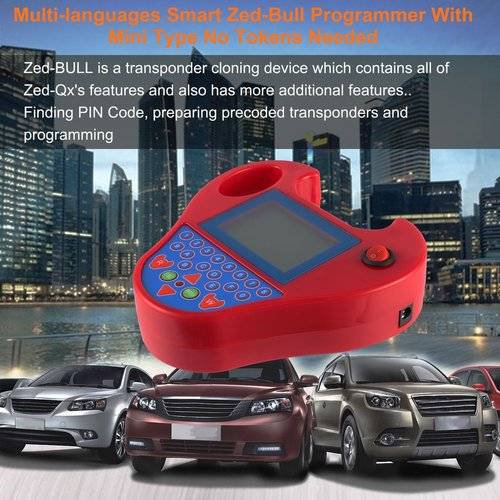 Multi-languages Smart Zed-Bull Programmer With Mini Type No Tokens Needed