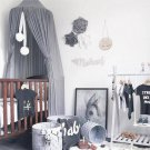 Kids Baby Bedcover Bed Canopy Mosquito Net Tent Chiffon Curtain Bedding Dome  Gray