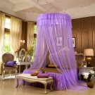Romantic Hung Dome Mosquito Net Princess Round Canopy Netting Curtain For Bedding Purple
