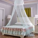 Round Lace Curtain Dome Bed Canopy Netting Princess Mosquito Net For Girls Blue
