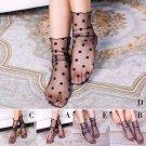 5 Pair Women Ruffle Fishnet Ankle High Socks Mesh Lace Short Socks Summer Socks