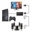 Black HDMI Video Converter Audio Video AV Adapter For Display Device PS2
