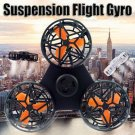 Tiny Toy Drone Flying Fidget Spinner Stress Relief Gift Flying Gyroscop Toy Black