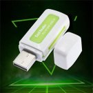 Protable USB 2.0 4 in 1 Memory Multi Card Reader for TF T-Flash M2 Card