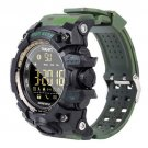 Waterproof Bluetooth Sport Smart Watch Phone Mate For Android IOS Green Camouflage
