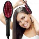 Ceramic Hair Straightener Brush Fast Straightening hair Electric Comb Flat Iron US Plug