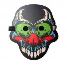 """Sound Activated LED Luminous Full Face Clown Mask Light Up Dance Rave Party Halloween Cosplay """"A"""""""