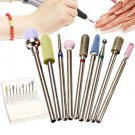 """9Pcs Nail Drill Bits Set 3/32"""" Cuticle Clean Electric Manicure and Pedicure kit"""